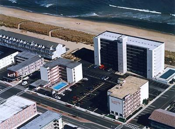 aerial view of Flamingo Hotel Ocean City MD